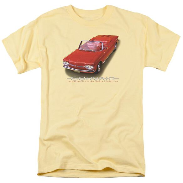 Chevrolet 62 Corvair Convertible Short Sleeve Adult Banana T-Shirt