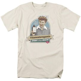 I LOVE LUCY SPOON TO HEALTH - S/S ADULT 18/1 - CREAM T-Shirt