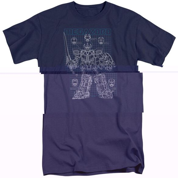 Power Rangers Mega Plans Short Sleeve Adult Tall T-Shirt