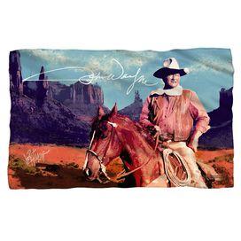 John Wayne Monument Man Fleece Blanket