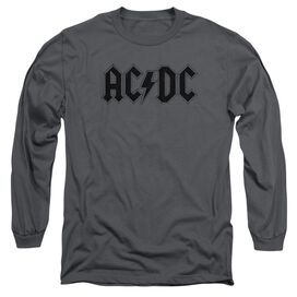 Acdc Worn Logo Long Sleeve Adult T-Shirt