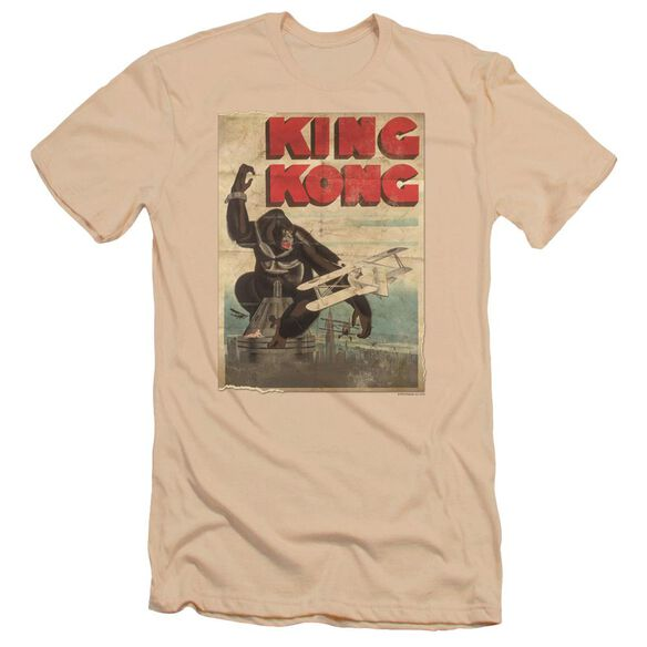 King Kong Old Worn Poster Premuim Canvas Adult Slim Fit