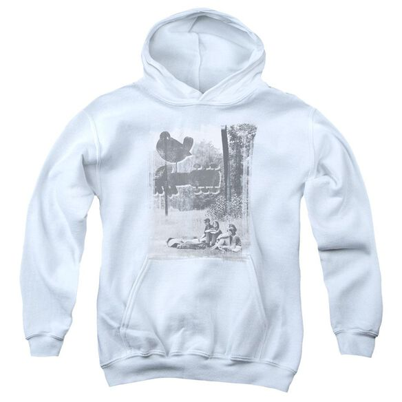 Woodstock Hippies In A Field Youth Pull Over Hoodie