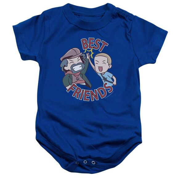 Valiantbest Friends Emoji Infant Snapsuit Royal Blue