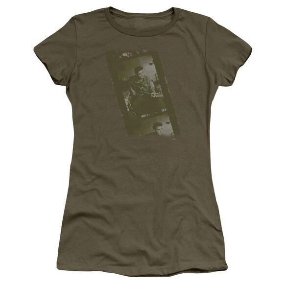Elvis Army Short Sleeve Junior Sheer Military T-Shirt