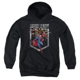 Justice League Movie Charge Youth Pull Over Hoodie