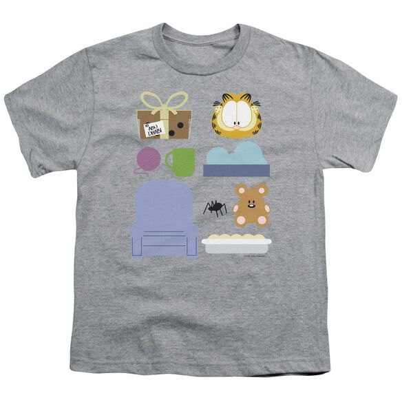 Garfield Gift Set Short Sleeve Youth Athletic T-Shirt
