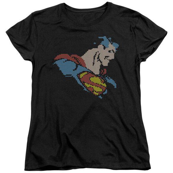 Dc Lite Brite Superman Short Sleeve Womens Tee T-Shirt