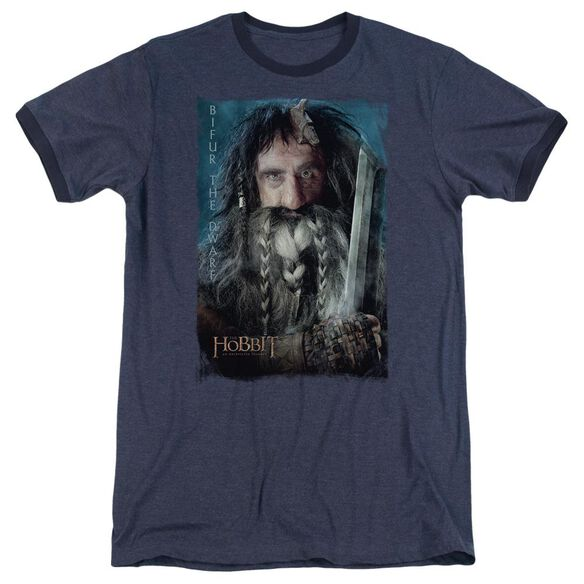 The Hobbit Bifur Adult Heather Ringer Navy