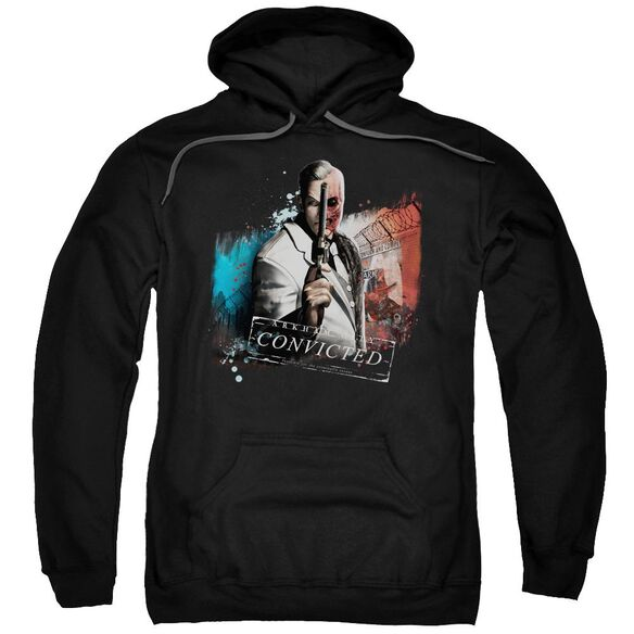 Arkham City Two Face Adult Pull Over Hoodie Black