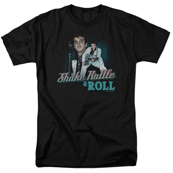 Elvis Shake Rattle & Roll Short Sleeve Adult T-Shirt