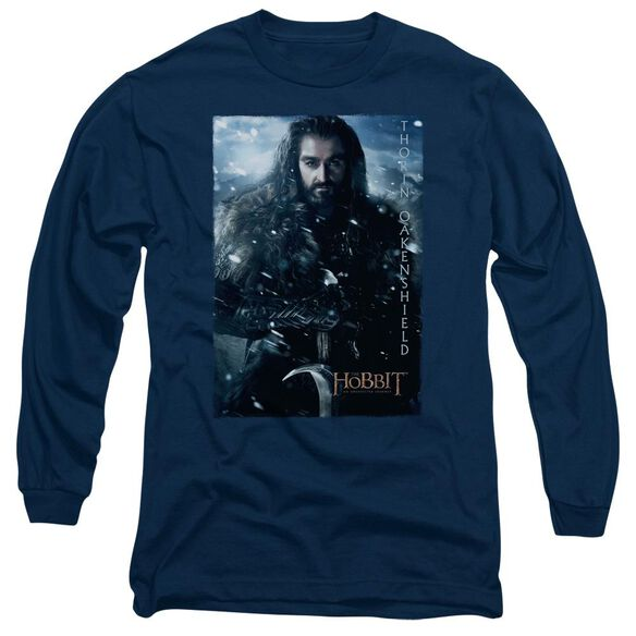 The Hobbit Thorin Poster Long Sleeve Adult T-Shirt