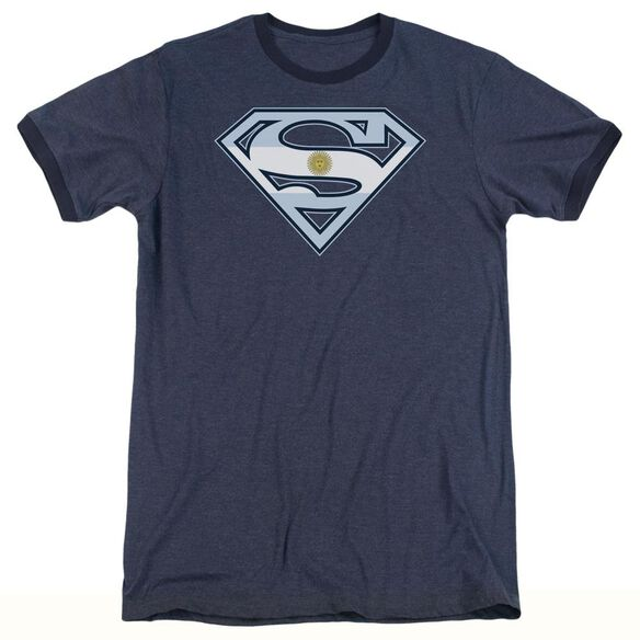 Superman Argentinian Shield - Adult Heather Ringer