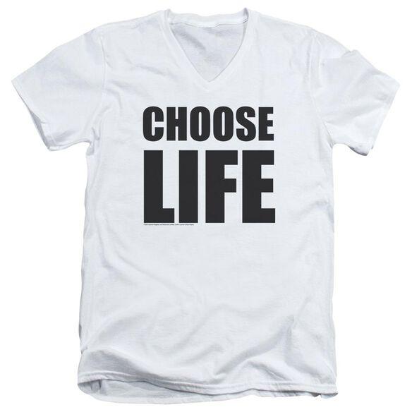 Wham Choose Life Short Sleeve Adult V Neck T-Shirt