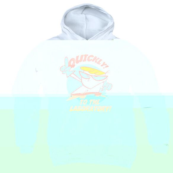 Dexters Laboratory Quickly-youth Pull-over Hoodie - White