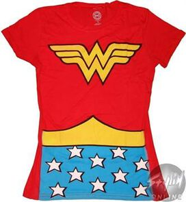 Wonder Woman Costume Juniors T-Shirt