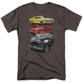 FAST AND THE FURIOUS MUSCLE CAR SPLATTER - S/S ADULT 18/1 - CHARCOAL - XL T-Shirt