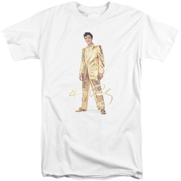 Elvis Gold Lame Suit Short Sleeve Adult Tall T-Shirt