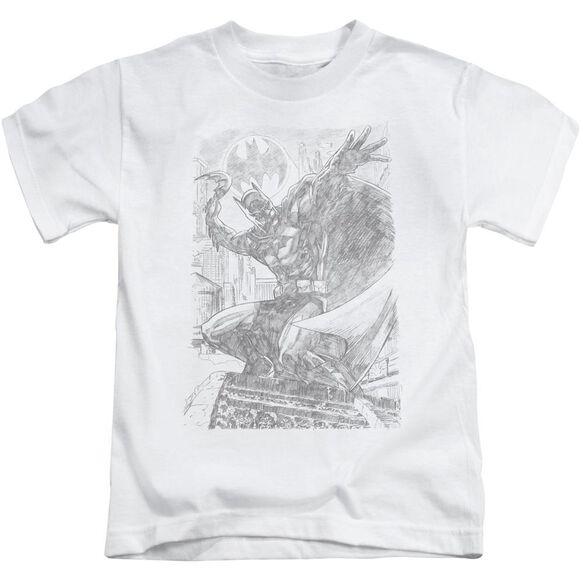 Batman Pencil Batarang Throw Short Sleeve Juvenile White T-Shirt