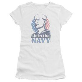 Navy Join Now Premium Bella Junior Sheer Jersey