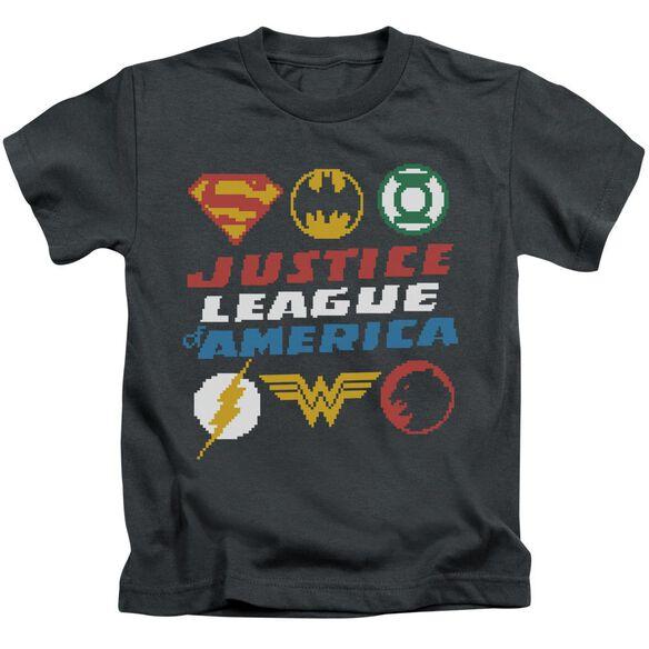 Jla Pixel Logos Short Sleeve Juvenile T-Shirt