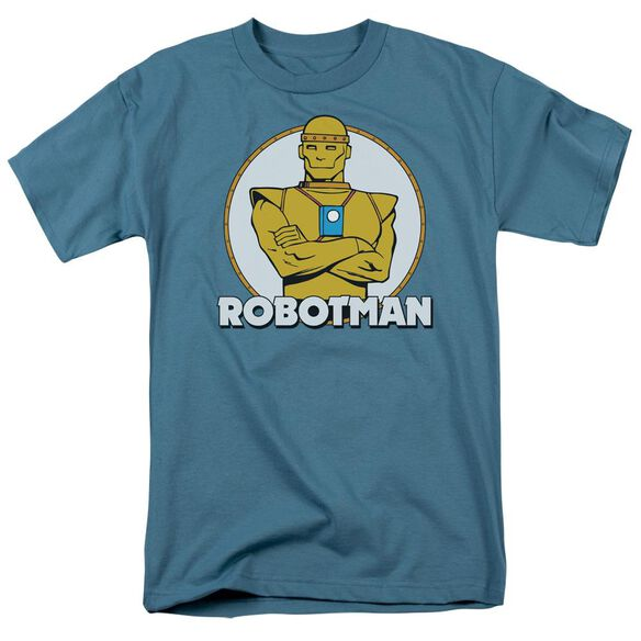Dc Robotman Short Sleeve Adult Slate T-Shirt