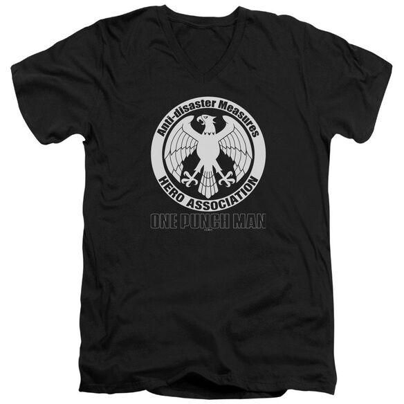 One Punch Man Hero Association Logo Short Sleeve Adult V Neck T-Shirt
