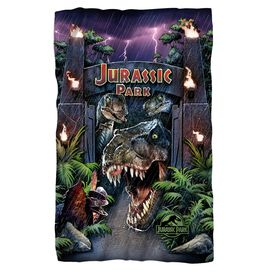 Jurassic Park Welcome To The Park Fleece Blanket