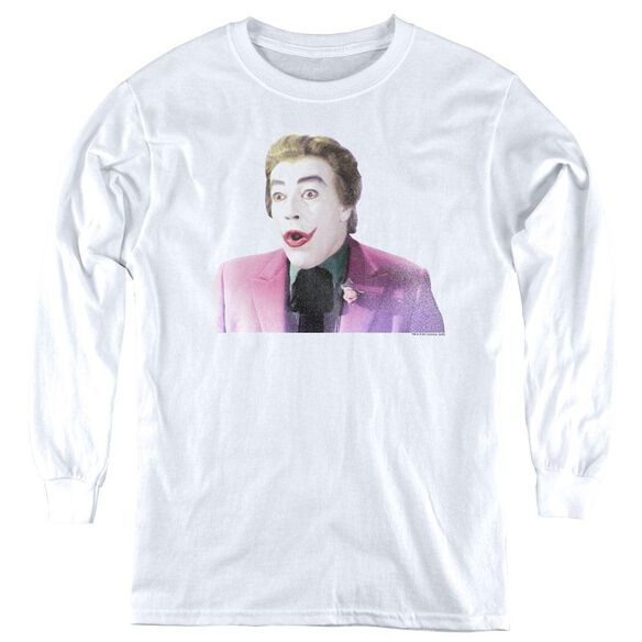 Batman Classic TV Thrilled - Youth Long Sleeve Tee - White
