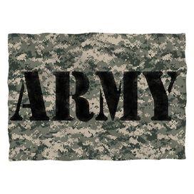 Army Camo Pillow Case White