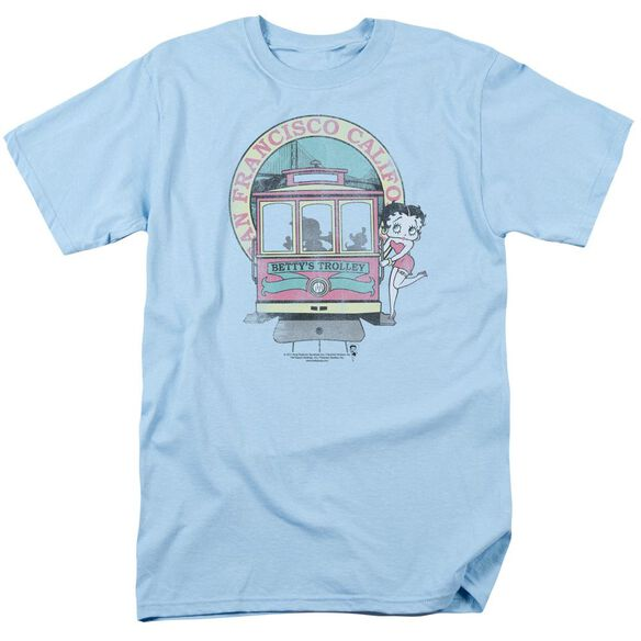 Betty Boop Bettys Trolley Short Sleeve Adult Light T-Shirt