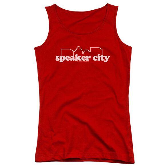 Old School Speaker City Logo Juniors Tank Top