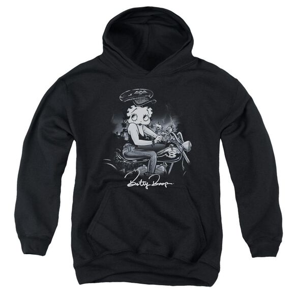 Betty Boop Storm Rider Youth Pull Over Hoodie
