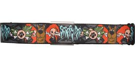 Scooby Doo Spooky Name Crossbones Seatbelt Mesh Belt