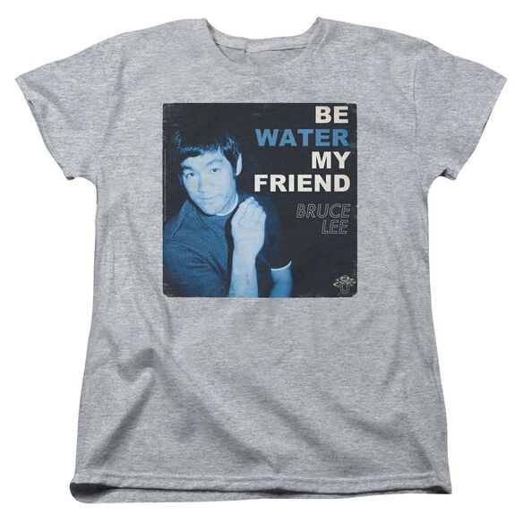Bruce Lee Water Short Sleeve Womens Tee Athletic T-Shirt