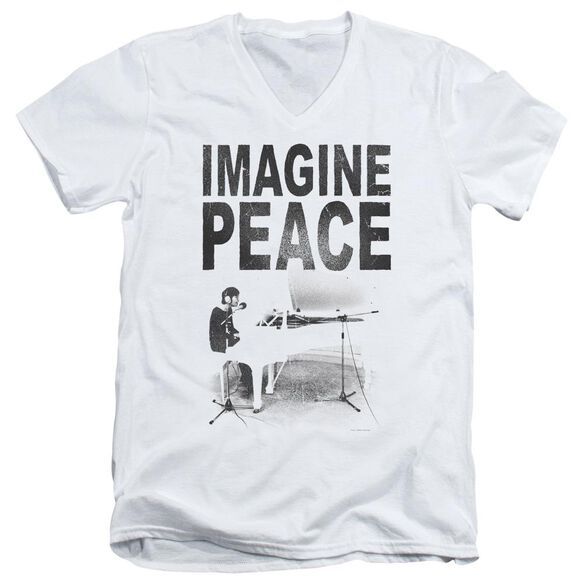 John Lennon Imagine Short Sleeve Adult V Neck T-Shirt