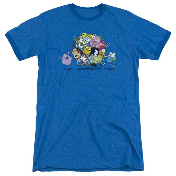 Adventure Time Glob Ball Adult Ringer Royal Blue