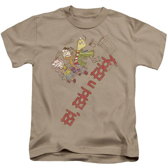Ed Edd N Eddy Downhill Short Sleeve Juvenile Sand T-Shirt