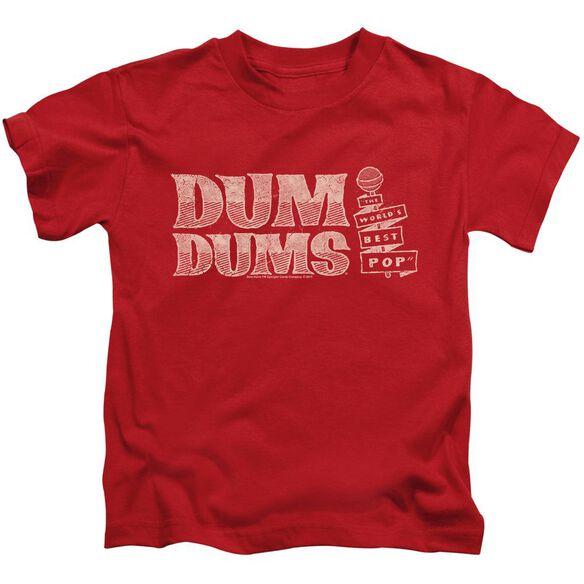 Dum Dums World's Best Short Sleeve Juvenile Red T-Shirt