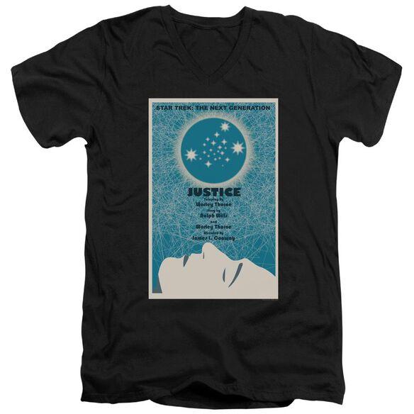 Star Trek Tng Season 1 Episode 8 Short Sleeve Adult V Neck T-Shirt