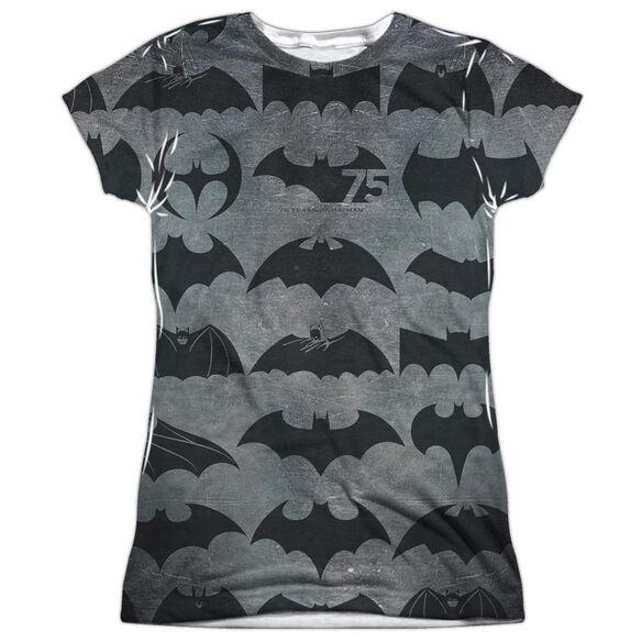 Batman 75 Symbols Short Sleeve Junior Poly Crew T-Shirt