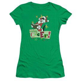 Looney Tunes Cheer Sylvester Short Sleeve Junior Sheer Kelly T-Shirt