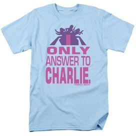 Charlies Angels Answer Short Sleeve Adult Light T-Shirt