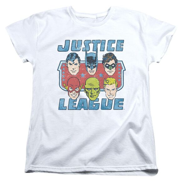 Dc Faces Of Justice Short Sleeve Womens Tee T-Shirt