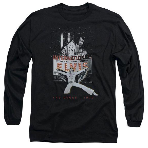 Elvis Presley Las Vegas Long Sleeve Adult T-Shirt