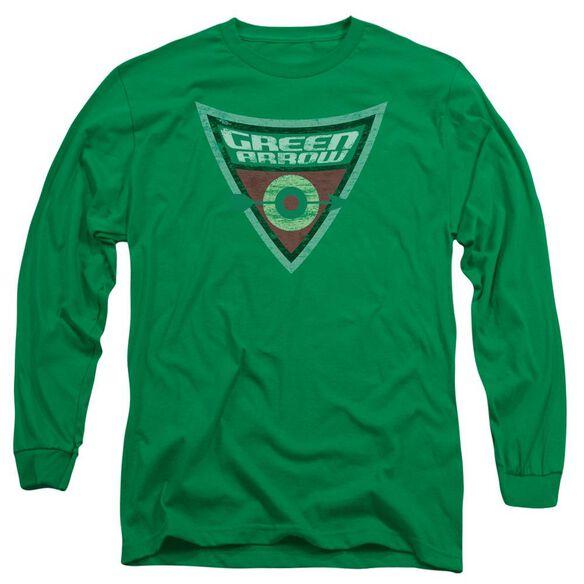 Batman Bb Arrow Shield Long Sleeve Adult Kelly T-Shirt