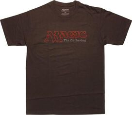 Magic The Gathering Logo Brown T-Shirt