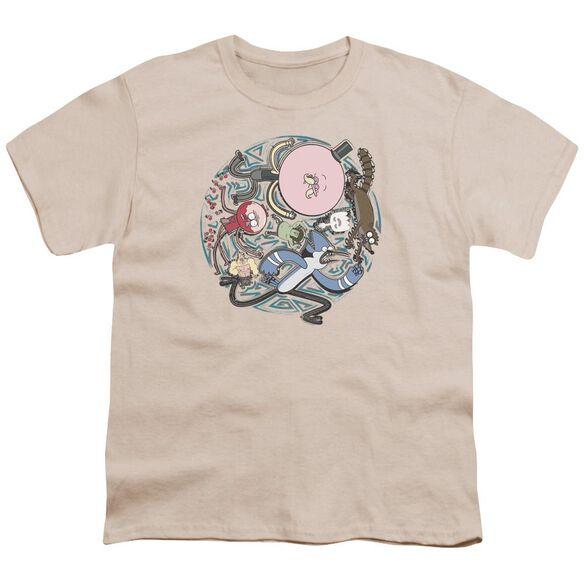 Regular Show Strange Circle Short Sleeve Youth T-Shirt