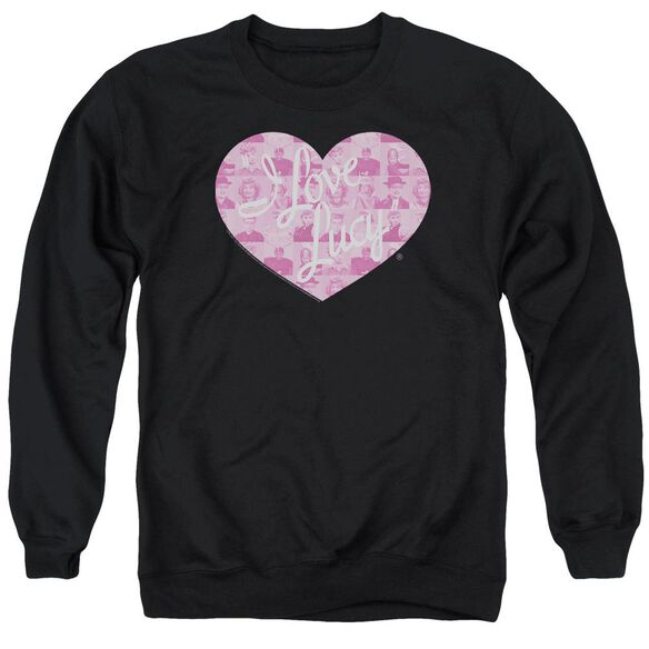 I Love Lucy Many Moods Logo Adult Crewneck Sweatshirt