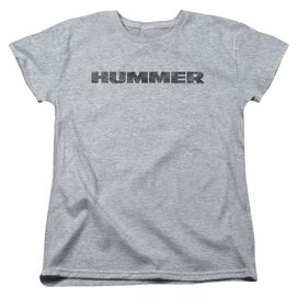 Hummer Distressed Hummer Logo Short Sleeve Womens Tee Athletic T-Shirt